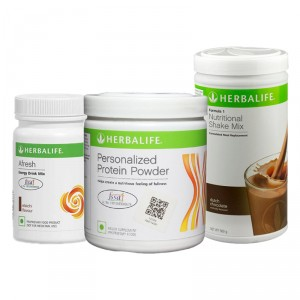 Buy Herbalife Formula 1(Chocolate) + Personalized Protein Powder and Afresh(Elachi) - Pack of 3 - Nykaa