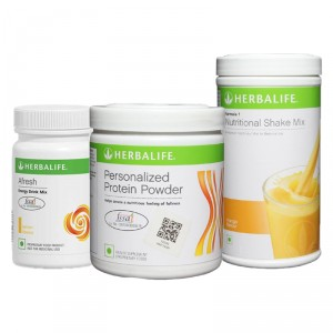 Buy Herbalife Formula 1(Mango) + Personalized Protein Powder and Afresh(Lemon) - Pack of 3 - Nykaa