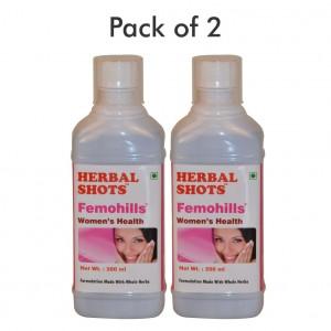 Buy Herbal Hills Femohills Herbal Shots (Pack of 2) - Nykaa