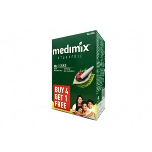 Buy Medimix Classic Ayurvedic 18 Herb Soap Buy 4 Get 1 Free - 125gm Each - Nykaa