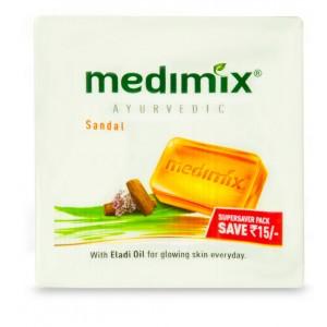 Buy Medimix Ayurvedic Sandal Soap Super Save Pack Save Rs.15 - Nykaa