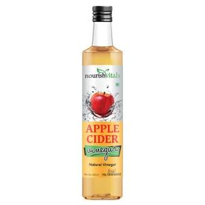 Buy Nourish Vitals Apple Cider Natural Vinegar Pure Filtered - Nykaa