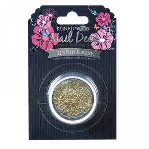 Buy Konad Pro Nail Deco Metal Ball Chain-Gold - Nykaa