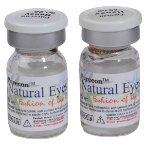 Buy Purecon Natural Eyes Honey Quarterly Disposable Contact Lenses - Nykaa