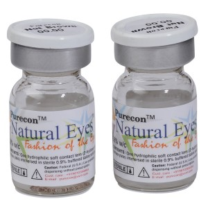 Buy Purecon Natural Eyes Nut Brown Quarterly Disposable Contact Lenses - Nykaa