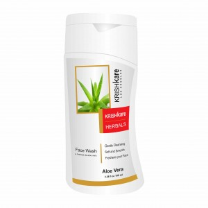 Buy Herbal Krishkare Aloe Vera Face Wash - Nykaa