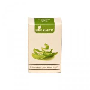 Buy Wild Earth Neem Aloe Vera Tulsi Soap - Nykaa