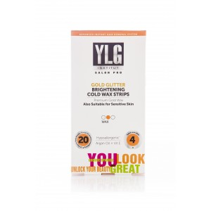 Buy YLG Slogro Gold Glitter Brightening Cold Wax Strips 20S - Nykaa