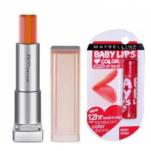Buy Buy Maybelline New York Color Sensational Lip Flush Just Bitten Lipstick - OR01 Sunset Sorbet & Get Baby Lips Color Balm Free - Nykaa