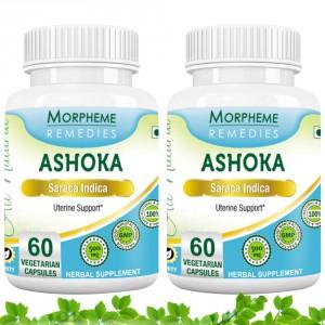 Buy Morpheme Remedies Ashoka Capsules for Uterine Support - 500mg Extract (Pack of 2) - Nykaa