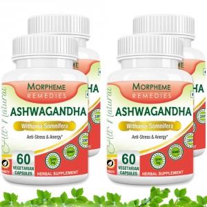 Buy Morpheme Remedies Ashwagandha (Withania somnifera) - Anti-Stress & Energy - 500mg Extract (Pack of 4) - Nykaa