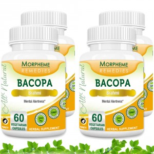 Buy Morpheme Remedies Bacopa (Brahmi) Capsules for Mental Alertness - 500mg Extract (Pack of 4) - Nykaa