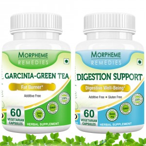 Buy Morpheme Remedies Garcinia Cambogia Green Tea + Digestion Support For Weight Loss, Digestive Health (Pack of 2) - Nykaa