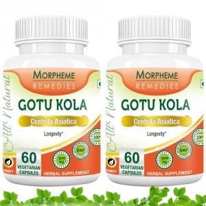 Buy Morpheme Remediess Gotu Kola Supplements For Longevity - 500mg Extract (Pack of 2) - Nykaa