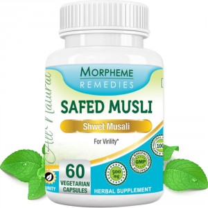 Buy Morpheme Remedies Safed Musli Capsules For Sexual Health - 500mg Extract - Nykaa