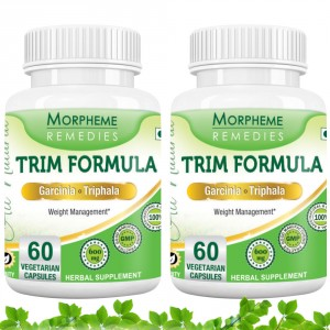 Buy Morpheme Remedies Trim Formula - Garcinia & Triphala For Weight Loss - 600mg Extract (Pack of 2) - Nykaa