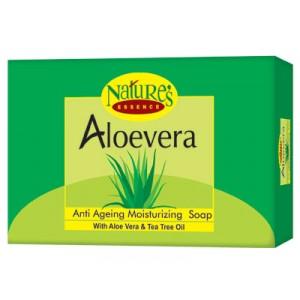 Buy Nature's Essence Aloevera Anti Ageing Moisturizing Soap (Set of 3+1 Free) - Nykaa