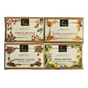 Buy Herbal Natural Bath & Body Rose And Almond + Honey Mandarin + Creamy Cocoa + Minty Lemon Bathing Bar Combo - Nykaa