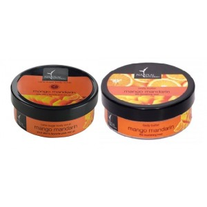 Buy Herbal Natural Bath & Body Mango Mandarin Cane Sugar Body Scrub And Mango Mandarin Body Butter Combo - Nykaa