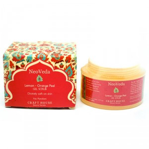 Buy NeoVeda Lemon And Orange Peel Gel Scrub - Nykaa