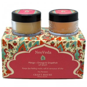 Buy NeoVeda Lip Balm - Mango, Orange And Grapefruit - Nykaa