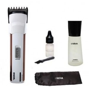 Buy Nova 2 In 1 Cordless And Corded NHT 1013/00 Trimmer (Red) - Nykaa