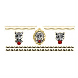 Buy Paperself Temporary Tattoos Ruby the Leopard - Red & Gold - Nykaa