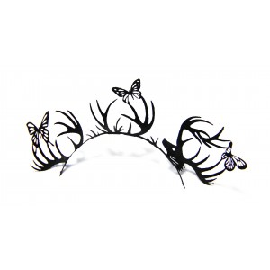 Buy Paperself Designer Eyelashes Deer & Butterfly - Black - Nykaa
