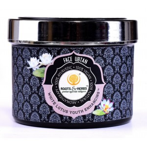 Buy Roots & Herbs White Lotus Youth Enhancing Face Ubtan  - Nykaa