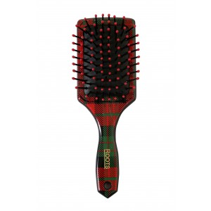 Buy Roots Styl Glam Mini Paddle Brush with Removable Mirror - Red & Green - Nykaa