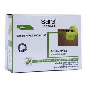 Buy Herbal Sara Green Apple Facial Kit - Nykaa