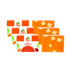 Buy Satveda Juicy Orange Soap Pack Of 3 - Nykaa