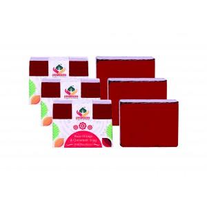 Buy Satveda Rose Orange & Cinnamon Soap Pack Of 3 - Nykaa