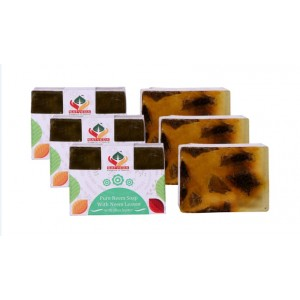 Buy Satveda Pure Neem Soap With Neem Leaves Pack Of 3 - Nykaa