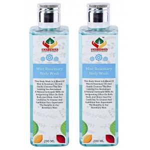 Buy Herbal Satveda Mint Rosemary Body Wash - Pack Of 2 - Nykaa