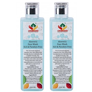 Buy Satveda Aloevera Face Wash - Pack Of 2 - Nykaa