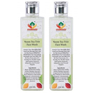 Buy Satveda Neem Tea Tree Face Wash - Pack Of 2 - Nykaa
