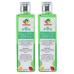 Buy Herbal Satveda Neem Tulsi Face & Body Wash - Pack Of 2 - Nykaa