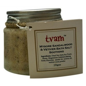 Buy Herbal TVAM Mysore Sandal & Vetiver Bath Salt - Nykaa