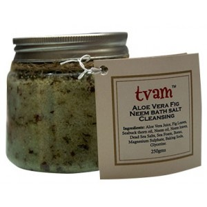 Buy Herbal TVAM Aloe Vera Fig & Neem Bath Salt - Nykaa