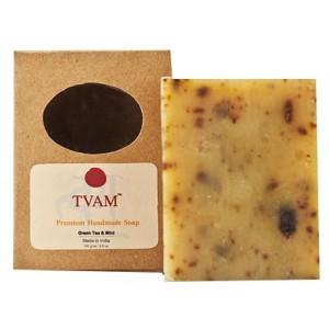 Buy Herbal TVAM Green Tea & Mint Handmade Soap - Nykaa