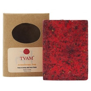 Buy TVAM Rose & Honey With Rose Petals Aromatherapy Soap - Nykaa