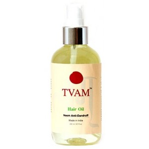 Buy Herbal TVAM Neem Anti-Dandruff Hair Oil - Nykaa