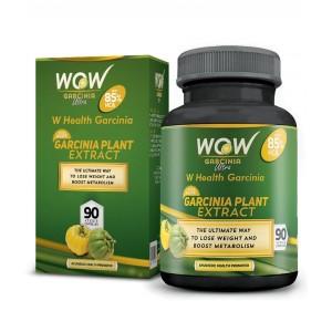 Buy Wow Garcinia Ultra 85% Hca- 750 Mg (90 Capsules) - Nykaa