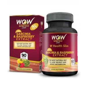 Buy Wow Garcinia & Raspberry Combo 60% Hca- 800 Mg (60 Capsules) - Nykaa
