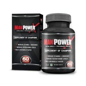 Buy Wow Manpower X Testosterone Booster And Bodybuilding Supplement (60 Capsules) - Nykaa