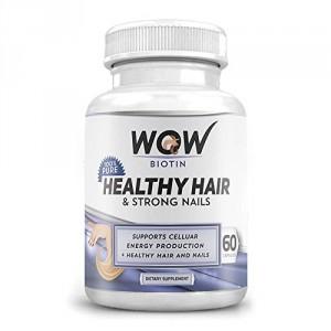 Buy Wow Biotin Healthy Hair & Strong Nails (60 Capsules) - Nykaa