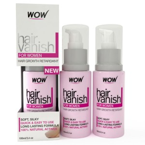 Buy Wow Hair Vanish For Women Hair Retardant Application Just 4-6 Weeks Pack of 3 100ml X 3 - Nykaa