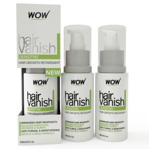 Buy Wow Hair Vanish Sensitive Bikni Zone & Underaram Body Hair Retardant Just 4-6 Weeks Pack of 3 - 100ml X 3 - Nykaa