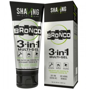 Buy Shaving Station Bronco 3 in 1 Gel - Nykaa